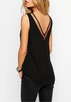 Womens Chiffon Sleeveless Top Blouse | Womens Dressy Tank Tops
