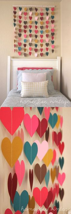 HEARTS...... tan walls, bright accents