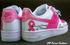 Breast Cancer Support Running Sneakers (Even though I hate running)
