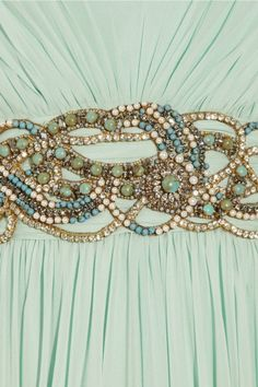 Details of one of Daenerys' gown, Marchesa