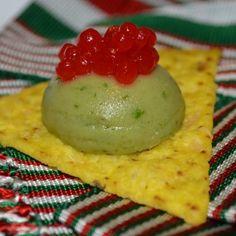 Modernist Guacamole with chili spheres by Chef Monica Carrillo (Calexico, CA).