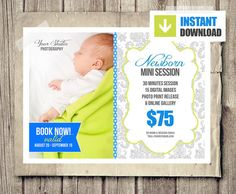 Newborn Photo Session Marketing Board for by PhotographTemplates, $8.00