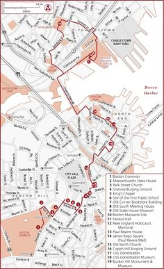 Boston: freedom trail map