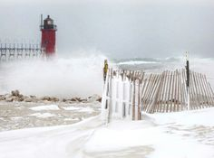 Winter isn't done yet! It's been a snowy couple of days in South Haven! Photo credit @j_kennedy12! #PureMichigan