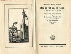 Münchhausen.  Insel Verlag frontispiece + title page