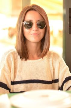 long bob + sunnies.