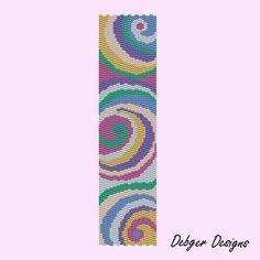 Satin Candy - Peyote Bracelet Cuff Pattern (PATTERN SAVING buy 2 - 3rd free). $6.50, via Etsy.
