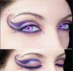 purple eye makeup @Brittany Paul