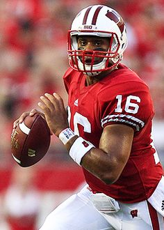 #16 Russell Wilson, Wisconsin Badgers... and now doing stellar as a Seahawk... woot!