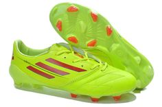 Adidas F50 2014 World Cup FG Cleats - Fluorescent Green Red