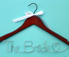 Choose Ribbon Wedding Dress Hanger Personalized by TellOurStoryToo