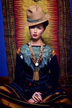 [Portrait by SAKAartisan]  Frida Kahlo  photographer Jaroscha Jaroscha stylist Zoya Prosekova model Veronika Paireli Make-up artist Kitty Kittiya Anjimakorn