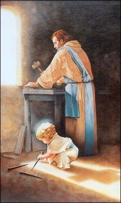 I love this pic of Joseph with Jesus as a little toddler fortuitiously-wéletlenül