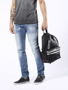 Discover Diesel Tepphar Shop the original collection on our Official Online Store. Diesel Jeans, Carrot Man, Jogg Jeans, Sling Backpack, Light Blue, Backpacks, Men's Pants, Bags, Shopping