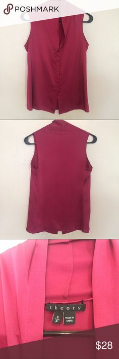 Theory Silk Top 100% silk. Pristine condition Theory Tops Tank Tops