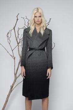 Gradient cashmere coat- made in Australia