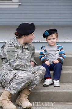 Don't know where her flag, name, us army patch and rank are? ha but cute pic