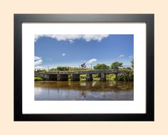 Original Photo Print, Cycle print, Bridge art, Sport scene, Cyclist art, Landscape photography, 'Clapper cycle' Cornwall, free p&p to UK by AmbiancePhotography on Etsy Photographic Prints, Landscape Photography, Scene, The Originals, Cornwall, Frame, Bridge, Painting, Sport