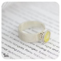 Sterling Silver Ring Yellow Ring Unique Silver by galitmeushar