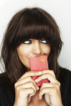 claudia winkleman fringe. Recreate without cutting your own hair! Use Balmain Hair Clip-In fringe!