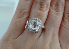 KristyDarling's 3.18-carat Cushion Halo Diamond Ring