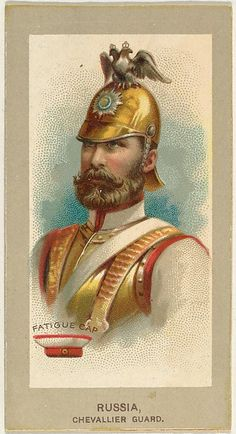 Fatigue Cap, Chevallier Guard, Russia, from the Military Uniforms series (T182) issued by Abdul Cigarettes