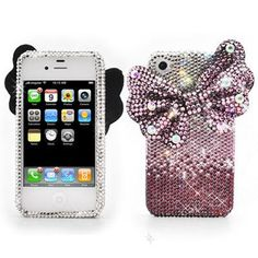 Diamond Bow iPhone Cases #accessories