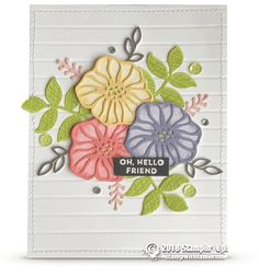 CARD: Beautiful Hello Friend Card | Stampin Up Demonstrator - Tami White - Stamp With Tami Crafting and Card-Making Stampin Up blog
