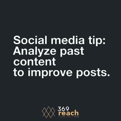 Get more audience by analyzing your past posts.