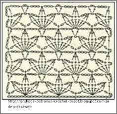 PATRONES=GANCHILLO = CROCHET = GRAFICOS =TRICOT = DOS AGUJAS: PUNTO FANTACIA CALADITO