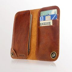 iPhone 5 leather case and wallet by semofir on Etsy, $69.00