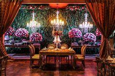 Mesa de doces para casamento clássico