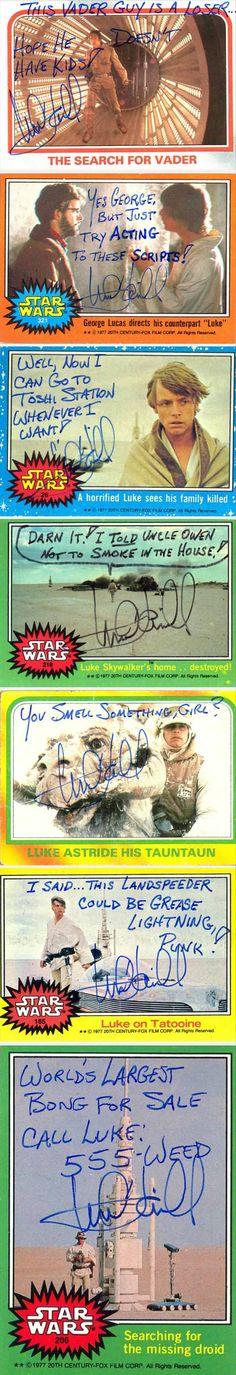 Luke Skywalker aka Mark Hamill is an autograph Jedi.