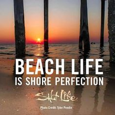 Beach life is shore perfection! #SaltLife