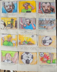 Page 4 of Trollie storyboards from sketchbook