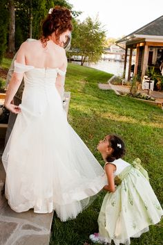 The perfect fluffer! @Leah Valentine #flowergirl