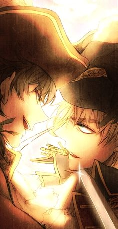 Pirates Spain and England (Hetalia) Anime Guys, Manga Anime, Anime Art, Blue Exorcist, Vocaloid, Hetalia England, Hetalia Fanart, Hetalia Anime, Animes On
