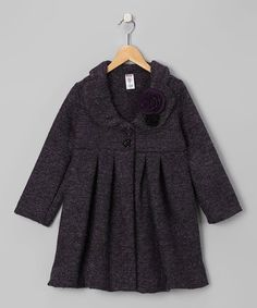 #zulily #fall  Take a look at this Double-Breasted Swing Coat & Pin by Blow-Out on #zulily today!