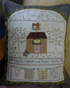 I designed it, you stitched it: Quilt Shoppe Pillow