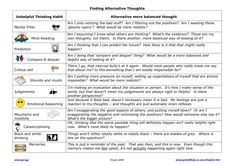 Printables Cognitive Distortions Worksheet cognitive distortions workstuff pinterest dbt finding more balanced thoughts by combating or ant