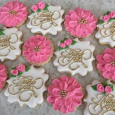 1 dozen Thank You cookies