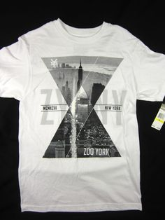 Zoo York Cityscape Urban NYC short sleeve t shirt men's white size MEDIUM #ZooYork #GraphicTee