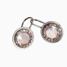 waschbar oorbellen met rozenkwarts