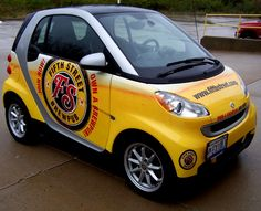Fifth Street Brew Pub: Smart Car Wrapped like a beer! Call today about our Vehicle Wraps.