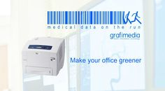 Make your office greener with Grafimedia and Xerox Information Technology, Printing Services, Printer, Medical, Make It Yourself, Green, How To Make, Self, Printers