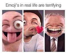 Emojis are creepy... - The Meta Picture
