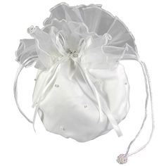 Puff Communion Bag with Pearls