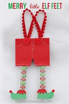 Merry Little Elf Feet - such a fun little craft!