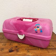 Vintage Caboodles Makeup Case 1980s Pink Swirl With Mirror Two Tier #2620 #Caboodles
