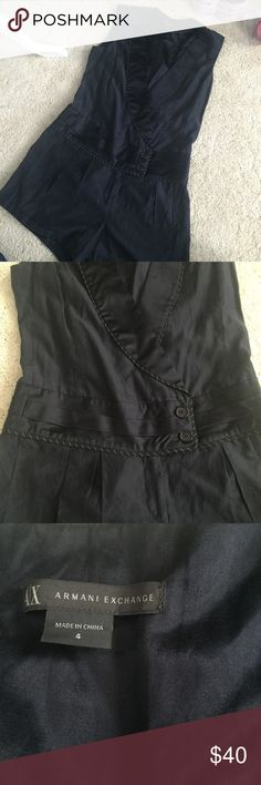 Armani exchange romper Chic yet functional navy blue romper by Armani exchange. Size 4 and fits true to size in my opinion A/X Armani Exchange Other